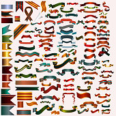 Mega collection of vector ribbons and banners for any holiday or event design