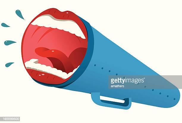 mega mouth - tongue stock illustrations, clip art, cartoons, & icons