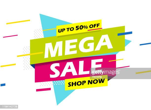 mega sale banner - giving stock illustrations