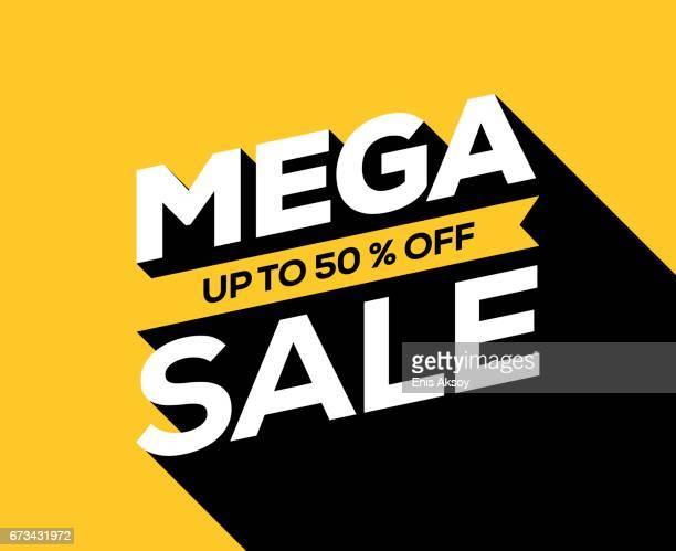 mega sale banner - sale stock illustrations