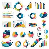 Mega set of charts, graphs, circle charts.