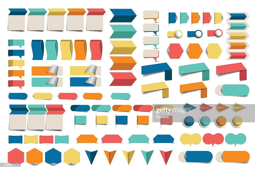 Mega set of infographics flat design elements, schemes, charts, buttons