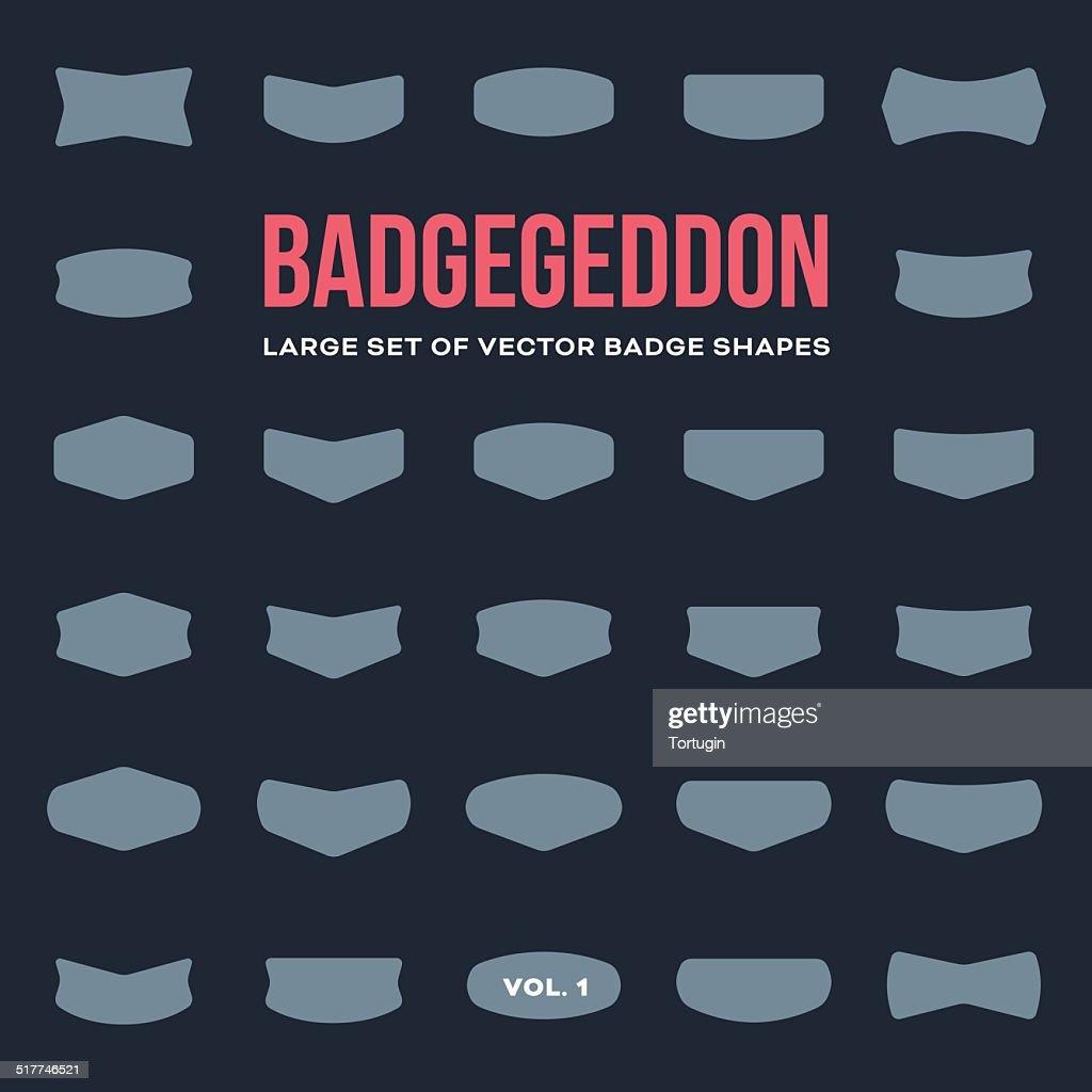 Mega set of vintage badge shapes and logo elements