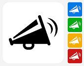 Megaphone Icon Flat Graphic Design