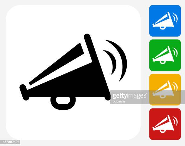 megaphone icon flat graphic design - announcement message stock illustrations