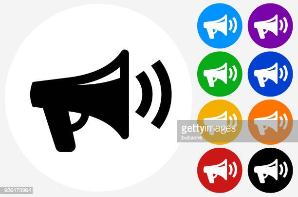 megaphone icon - announcement message stock illustrations