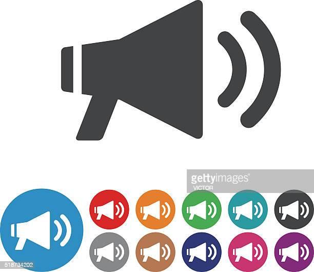illustrazioni stock, clip art, cartoni animati e icone di tendenza di megafono icona serie di icone-grafico - megafono