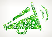 Megaphone Nature and Environmental Conservation Icon Pattern