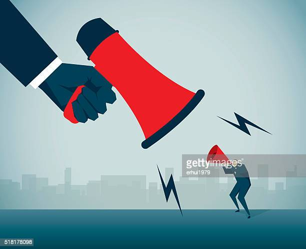 megaphone - office politics stock illustrations, clip art, cartoons, & icons