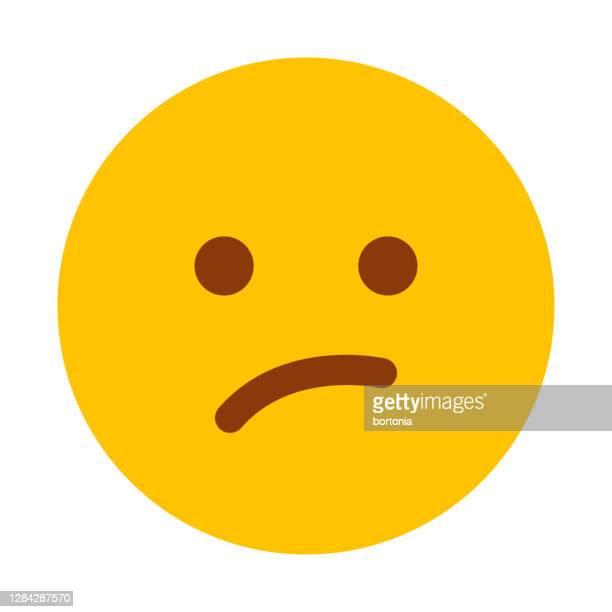 illustrazioni stock, clip art, cartoni animati e icone di tendenza di icona di meh emoticon su sfondo trasparente - delusione