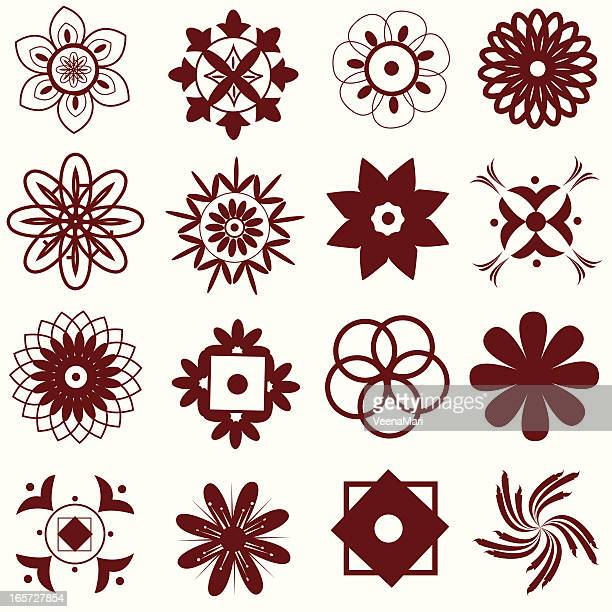 Mehandi Design Elements.