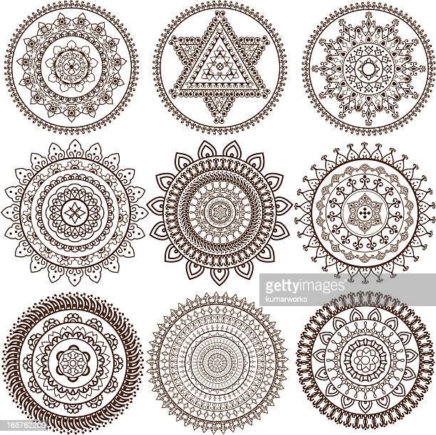 Mehandi Mandala design