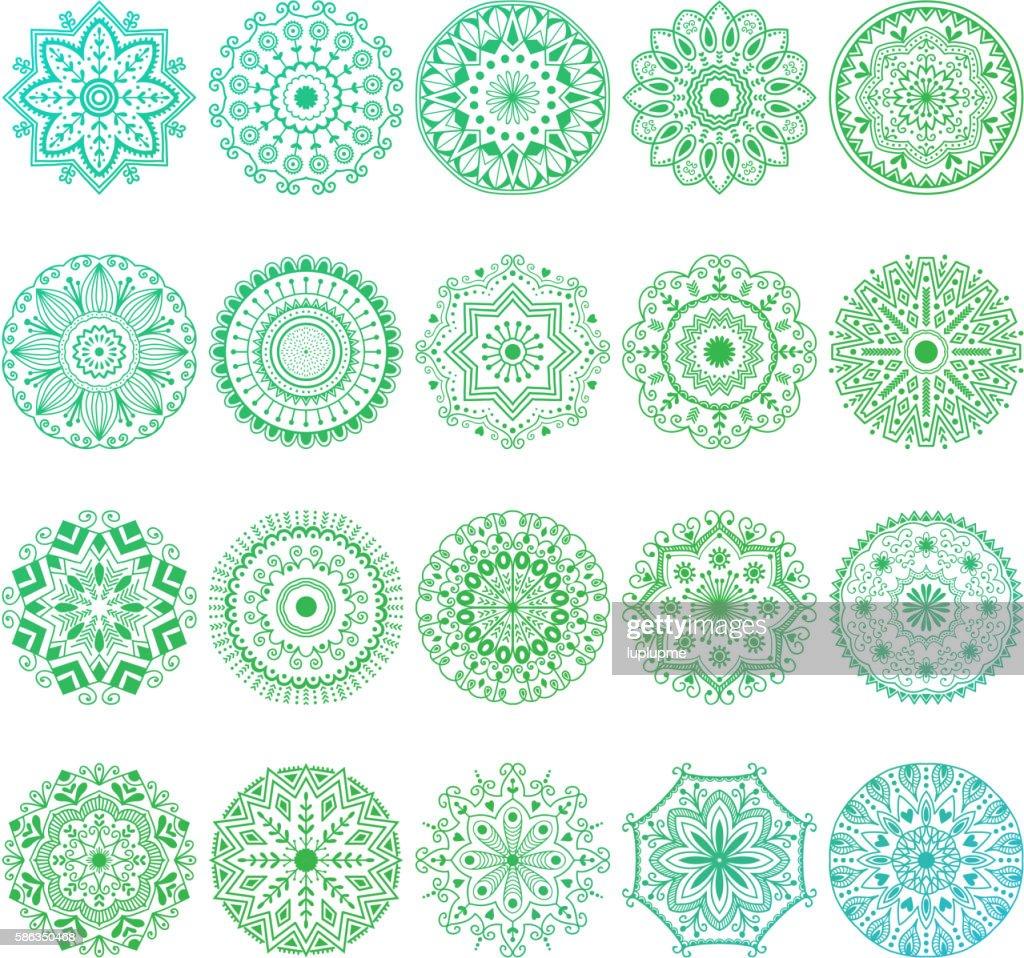 Mehendy mandala flower vector illustration