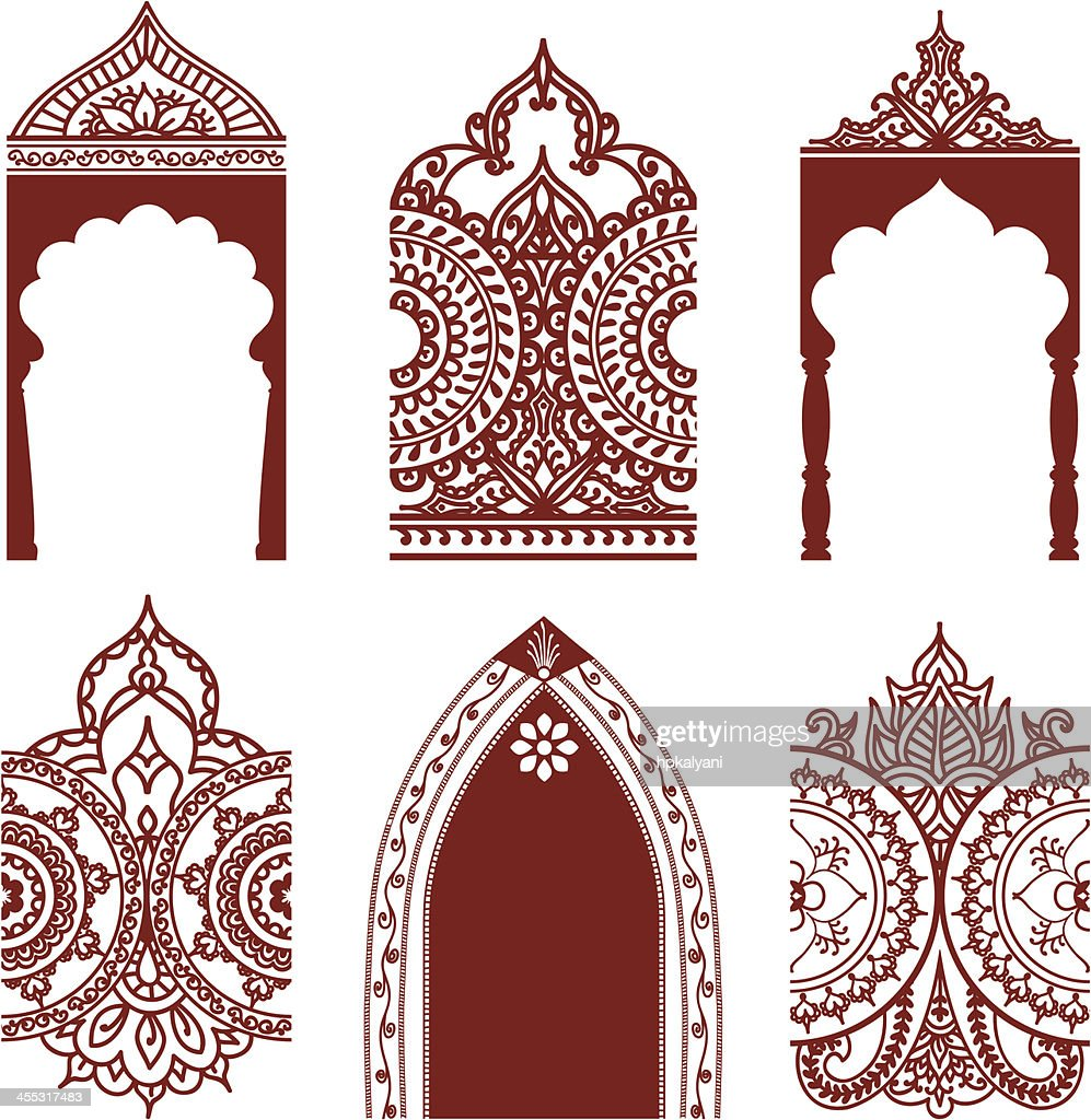 Mehndi Arches and Borders : stock illustration
