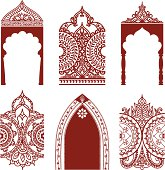 Mehndi Arches and Borders