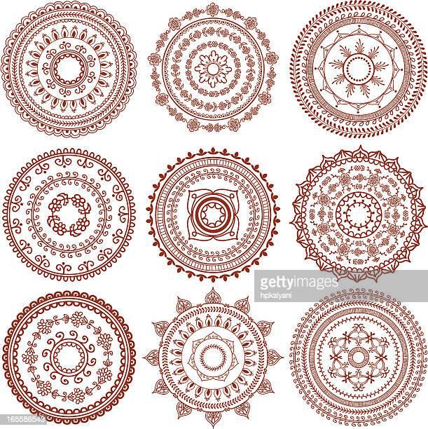 Mehndi Circles (Vector)