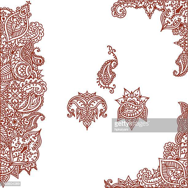 c11e212da 60 Top Henna Tattoo Stock Illustrations, Clip art, Cartoons, & Icons ...