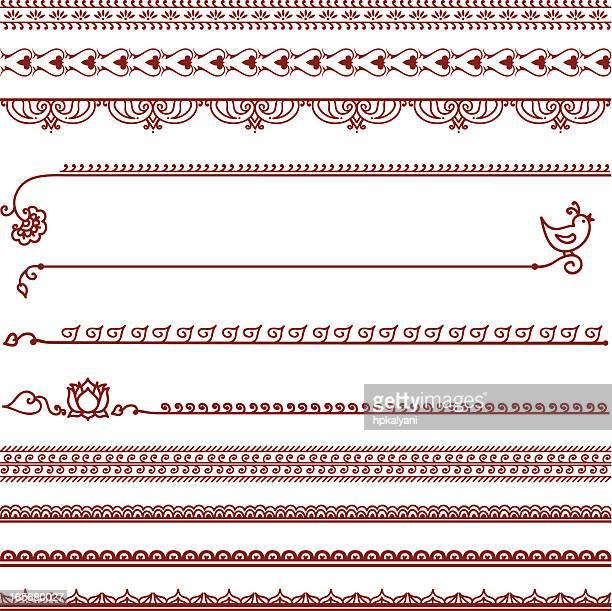 mehndi lines - asian stock illustrations, clip art, cartoons, & icons