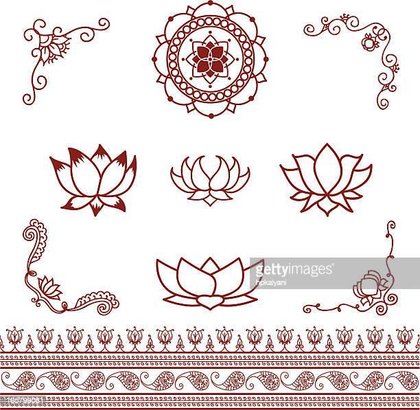 Mehndi Lotus Elements