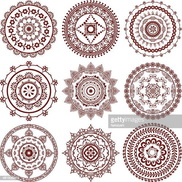 Mehndi (henna) Mandalas