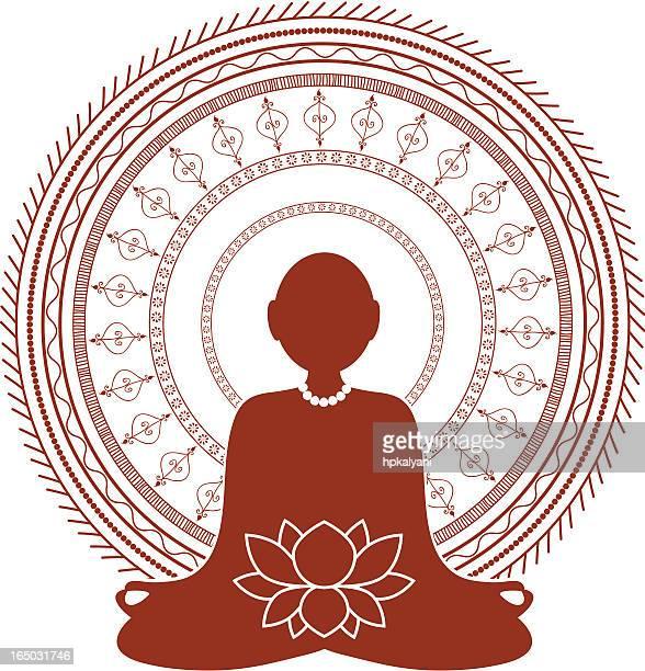 Mehndi Meditation (Vector)