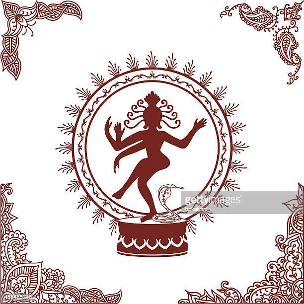 mehndi nataraj - shiva stock illustrations