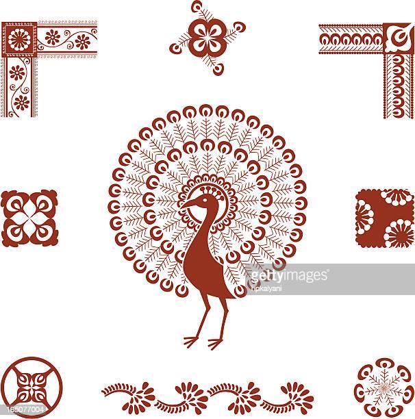 Mehndi Peacock (Vector)