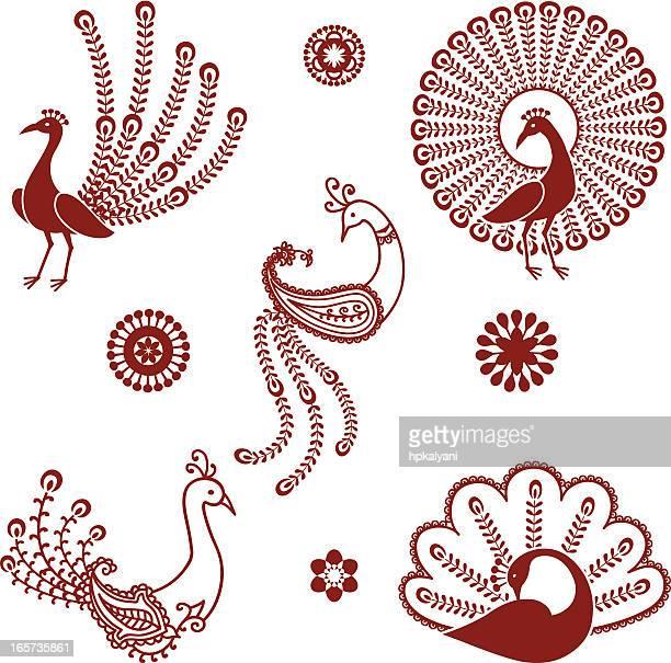 Mehndi Peacocks