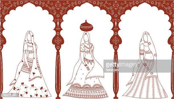 Mehndi Women (Vector)