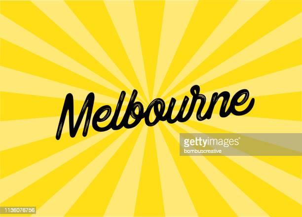 melbourne lettering design - melbourne stock illustrations