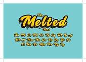 Melted alphabet