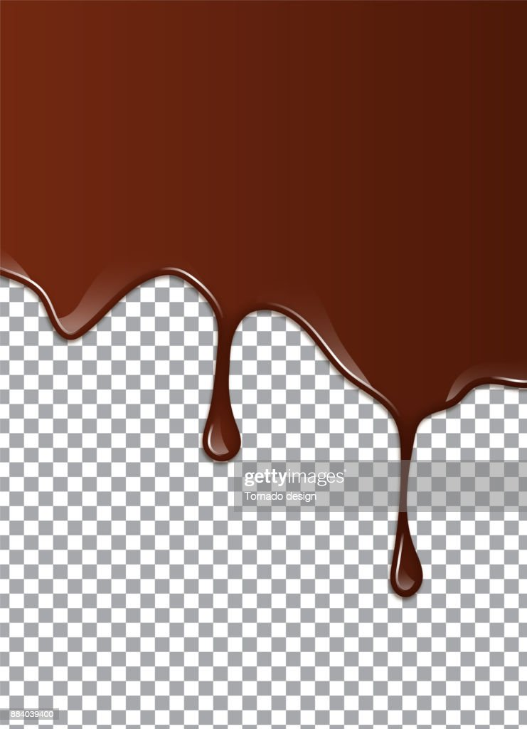 Melted Chocolate Syrup. Vector illustration