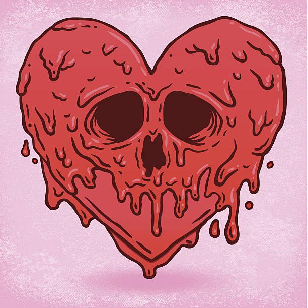 melted heart - melting stock illustrations