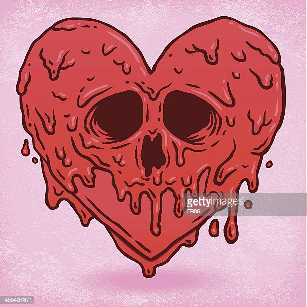 melted heart - slimy stock illustrations, clip art, cartoons, & icons