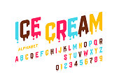 Melting ice cream font