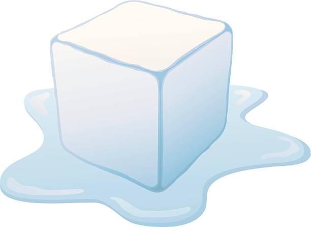 melting ice cube - melting stock illustrations