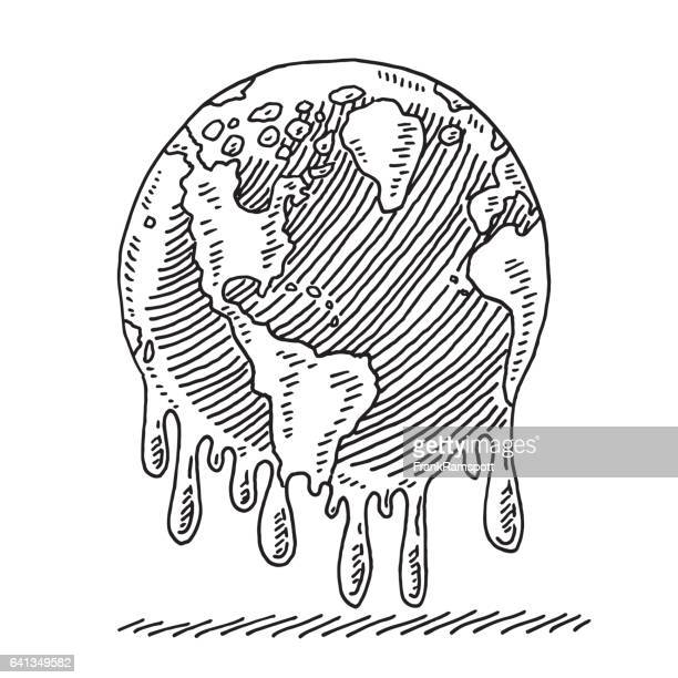 Melting Planet Earth Drawing