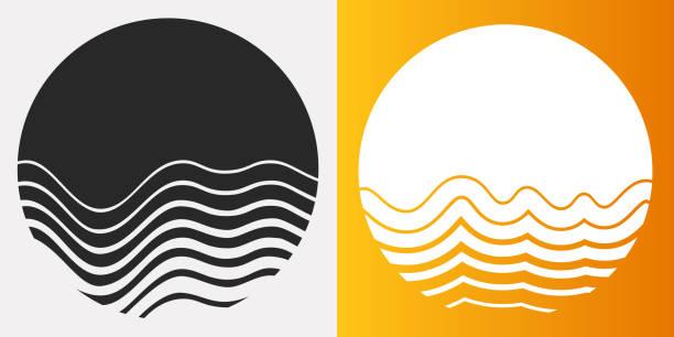melting sun circle symbols - melting stock illustrations