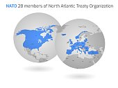 NATO member countries globes
