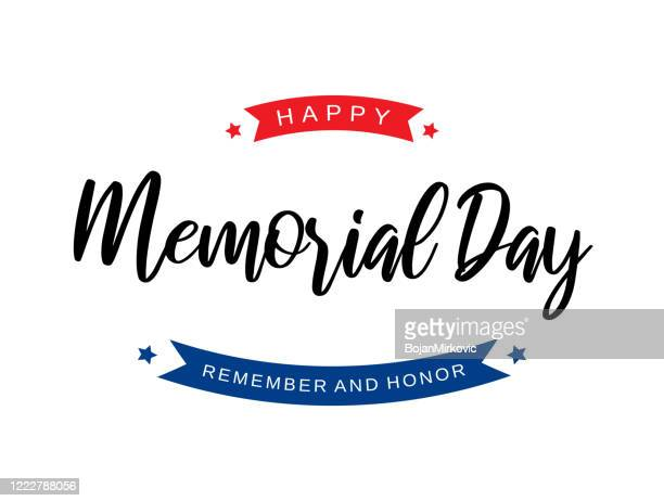 memorial day background card. remember and honor. vector - war memorial holiday stock illustrations