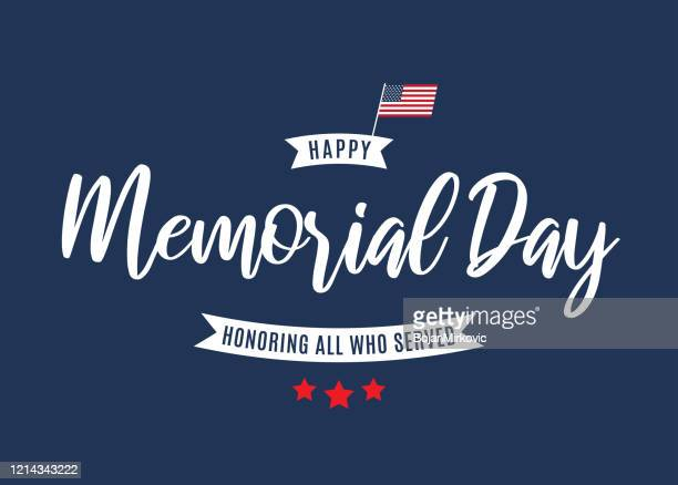 memorial day background. honoring all who served. vector - war memorial holiday stock illustrations