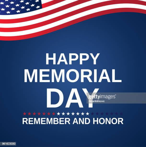 memorial day background with american flag. remember and honor. vector illustration. - war memorial holiday stock illustrations