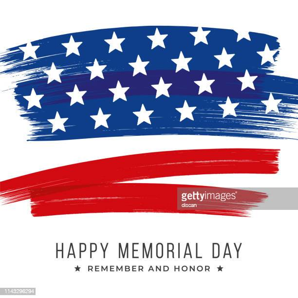 memorial day banner with stars and stripes. template for memorial day. - war memorial holiday stock illustrations