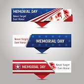 Memorial day banners.