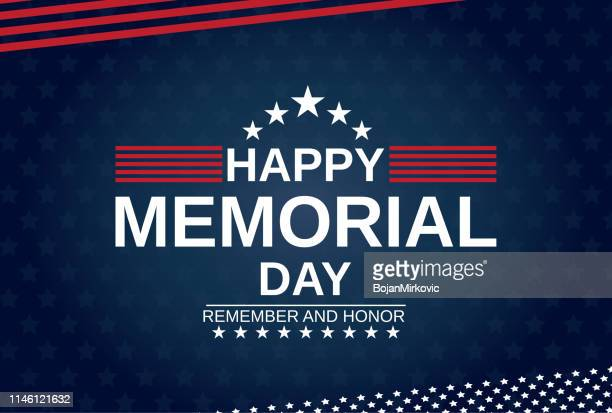 memorial day card with stars. remember and honor. vector illustration. - heroes stock illustrations