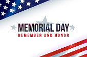 Memorial Day on American flag