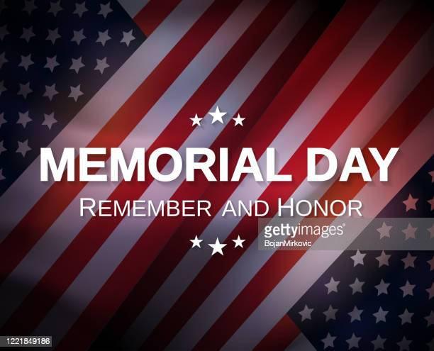 memorial day poster. remember and honor. vector - war memorial holiday stock illustrations