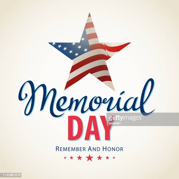 memorial day remembrance - war memorial holiday stock illustrations