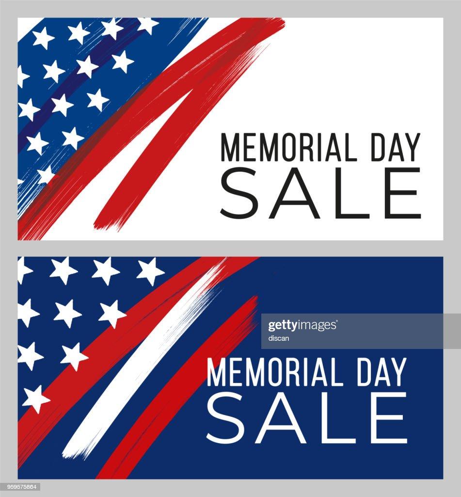 Memorial Day Sale banner : Stock-Illustration