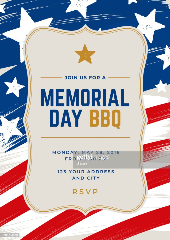 memorial day special party invitation template vector art getty images